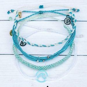 Pura vida 4 pack set NWT bracelets aqua waves